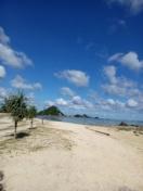White sand beach at Kuta Beach Lombok
