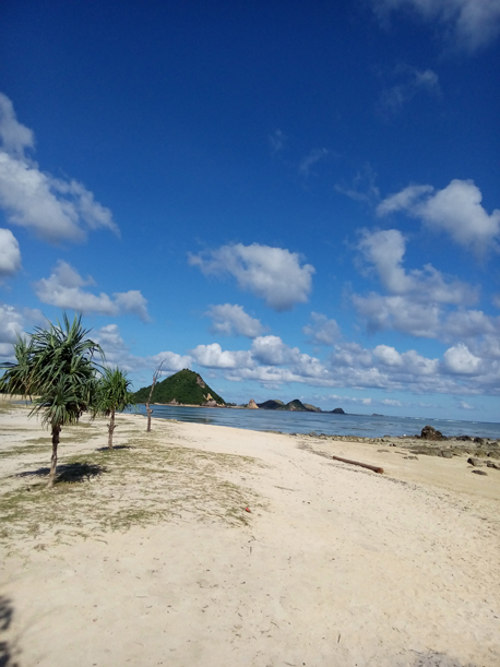 White sand beach at Kuta Beach Lombok