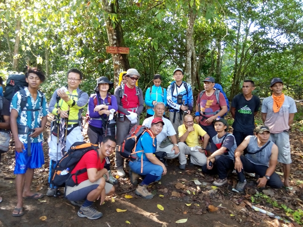 The forest gate of Mount Tambora trekking