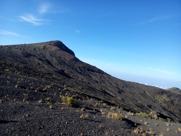 Desert area on the crater rim of Mount tambora