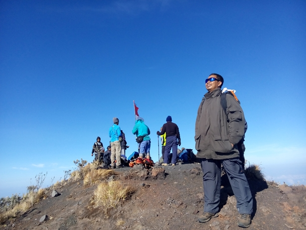 View on the summit of mount tambora