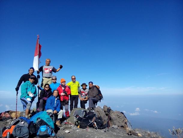 On the top of Mount Tambora