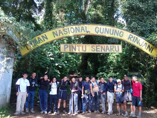 Entrance gate to Mount Rinjani National Park - Senaru Gate