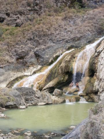 Hotspring (Aik Kalak) at Segara Anak Lake on Mount Rinjani Lombok
