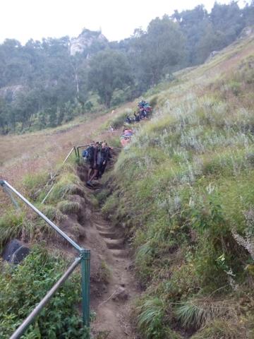 Mount rinjani trek trails from Senaru crater to Segara Anak Lake