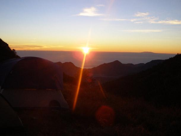 Sunrise from Sembalun Crater Rim campsite