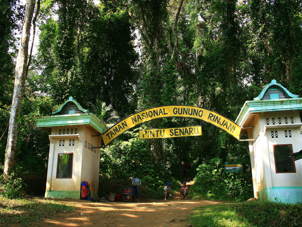Entrance gate to mount rinjani national park