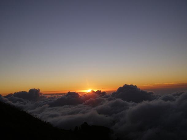 Sunset view from Senaru Crater Rim, Mount Rinjani Lombok