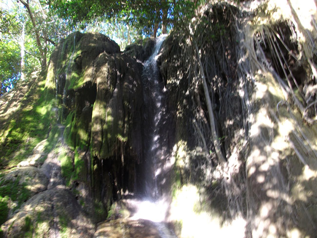 Jereweh waterfall located in the forest near Jereweh village