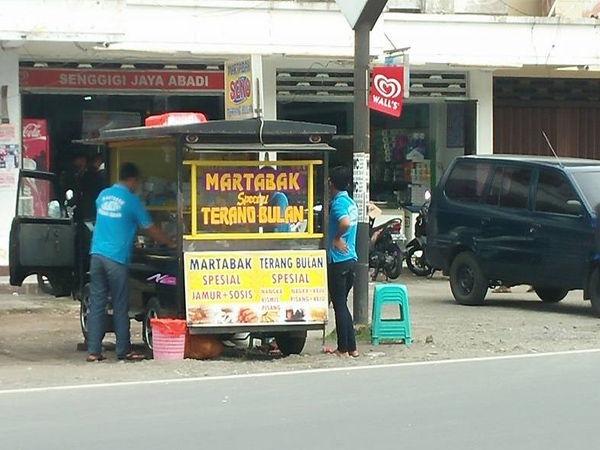 Martabak and terang bulan famous street food in Senggigi town
