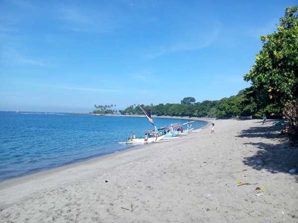 Senggigi beach located on the west of Lombok