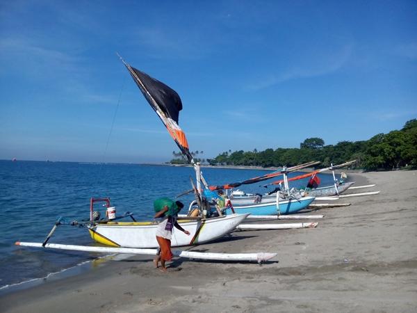 Fisherman on Senggigi beach Lombok