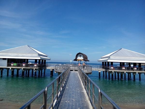 New harbor at Senggigi beach lombok