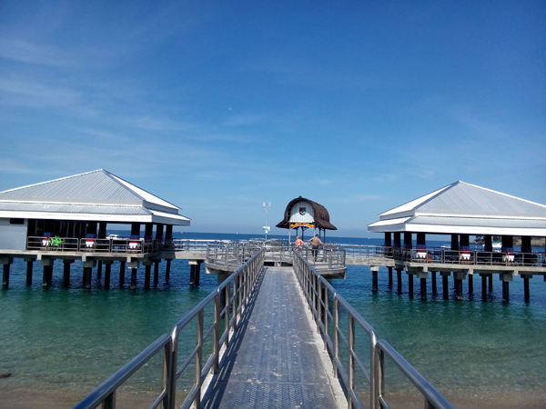 New harbor at Senggigi beach lombok