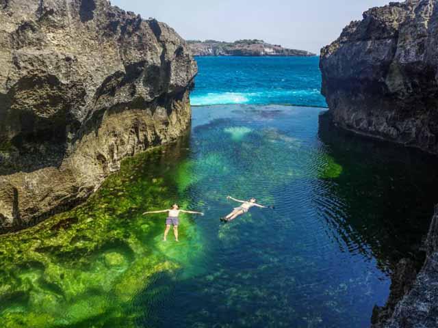 Swimming at Angels Billabong
