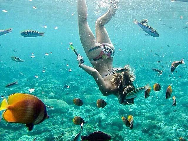Snorkeling at Crystal bay point