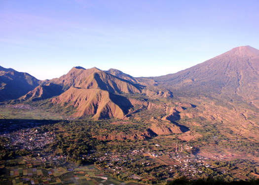 view from pergasingan hill lombok indonesia