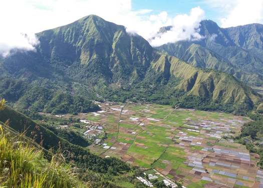 sembalun village lombok view from pergasingan