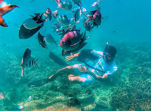 Snorkeling spot at Gili Rengit